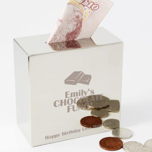 Personalised Chocolate Square Money Box